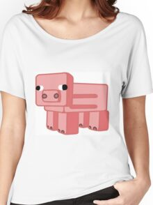 Minecraft Pig Women's Relaxed Fit T-Shirt