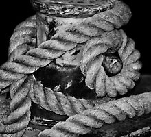 Rope on Dock Used for Laker Ships by Laurie Minor