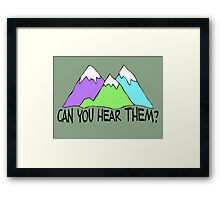 Can You Hear Them? Framed Print