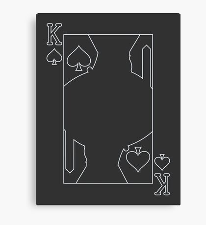 King of Spades - Outline Canvas Print