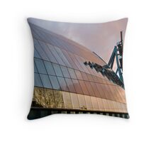 Sunset over Frank Gehry's Re-envisoning of the AGO Throw Pillow