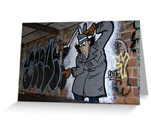 Inspector Spraycan Greeting Card