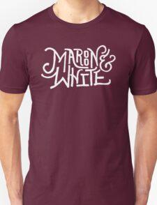 Maroon & White - White Script T-Shirt