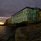 The Hermitage At Dawn - St Petersburg by Mark Tomlinson