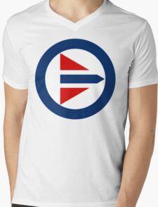 Royal Norwegian Air Force Insignia Mens V-Neck T-Shirt