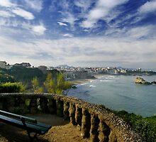 Overlooking Biarritz by Mark Tomlinson