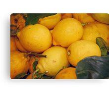 Lemony Basket Canvas Print