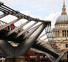 Wobbly Bridge to St Paul's by sjlphotography