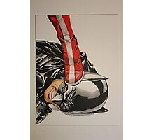 wonder woman stepping on batmans head Photographic Print