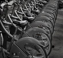 Bikes for Hire - Paris by Mark Tomlinson