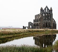 White Sky at Whitby Abbey by kevinjacques