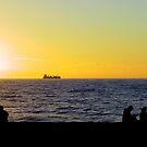 Sunset and Ship by Daidalos