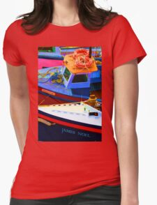 Polar Star - Christmas Boats , Tenby Womens Fitted T-Shirt