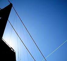 Blue Sky over the Humber Bridge by kevinjacques