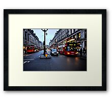 Taxi, bike or bus  Framed Print