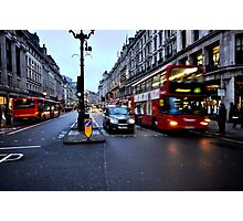 Taxi, bike or bus  Photographic Print