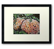 Fall Pumpkins Framed Print