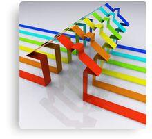 Houses - 3D Render Canvas Print
