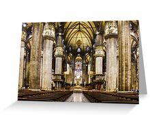Duomo di Milano Interior Greeting Card