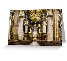 Duomo di Milano Interior Greeting Card