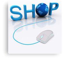 Web Shop - 3D render Canvas Print
