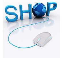 Web Shop - 3D render Photographic Print