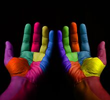 Colorful Hands by Digital Editor .