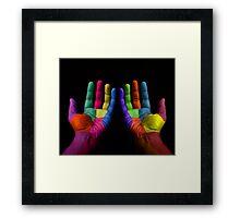 Colorful Hands Framed Print