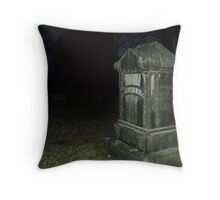 cemetary near my moms house Throw Pillow