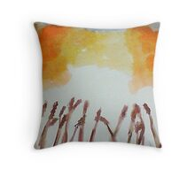 Growing Season, watercolor Throw Pillow