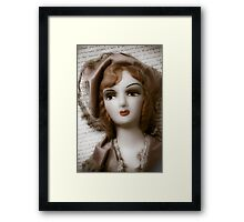Old Doll On Letter Framed Print