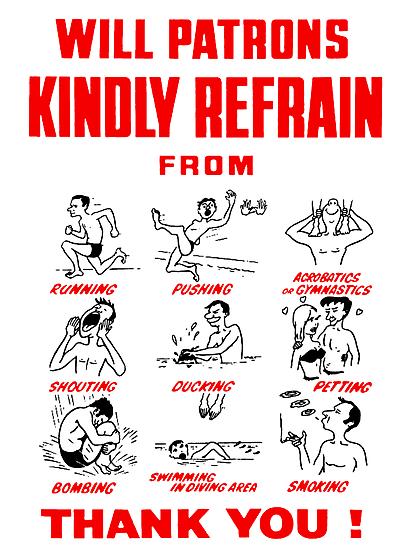 Swimming Pool Rules by loogyhead