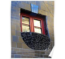 Individual window by Hundertwasser Poster