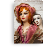 Two Vintage Dolls Canvas Print