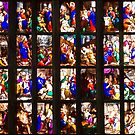Colourful stained-glass windows in Milan Cathedral, ITALY by Bruno Beach