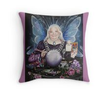 Good fairy faerie,fortune teller,tarot fantasy Throw Pillow