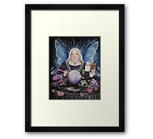 Good fairy faerie,fortune teller,tarot fantasy Framed Print