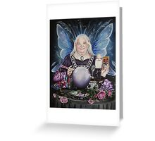 Good fairy faerie,fortune teller,tarot fantasy Greeting Card