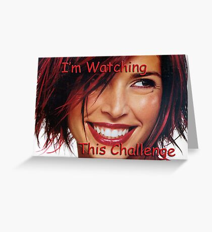 Challenge Marker Watching Greeting Card