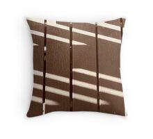 Brown Shadows Throw Pillow