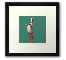 Retro beach babe Framed Print