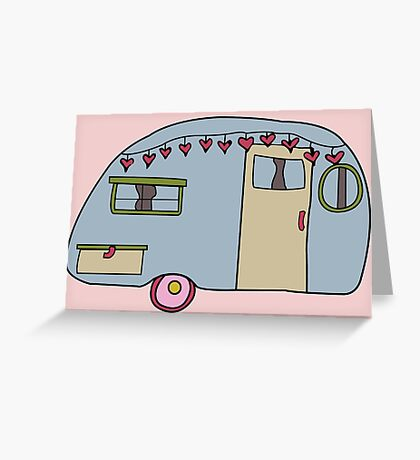 Retro camper Greeting Card