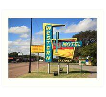 Route 66 - Western Motel Art Print
