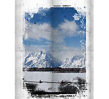 Wrinkle Tetons Photographic Print