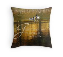 Good Health (for bootiewootsy) Throw Pillow
