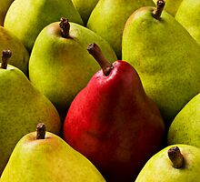 Red And Green Pears by Garry Gay