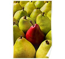 Red And Green Pears Poster