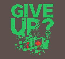 GIVE UP? NES themed T-shirt and sticker T-Shirt