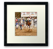 Rodeo - Bucking Bronco  Framed Print