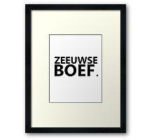 Zeeuwse Boef 3 Framed Print